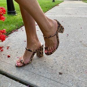 Ego leopard slide sandals